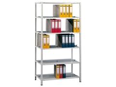Bürogrundregal (HxBxT): 1800x750x600 mm, Schraubsystem beschichtet