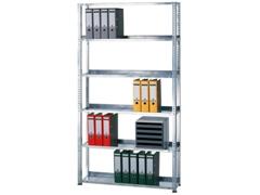 Bürogrundregal (HxBxT): 1800x750x300 mm, Schraubregal verzinkt
