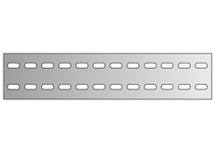 Flachband verzinkt, Länge: 600 mm