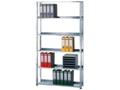 Bürogrundregal (HxBxT): 2000x750x300 mm, Schraubsystem beschichtet