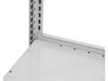Anschlagleiste für Steck- und Schraubregale, beschichtet