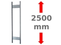 Multiplus T-Profil-Rahmen mit Tiefenriegeln, unmontiert, beschichtet in RAL 7035, Tiefe: 600