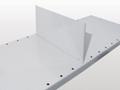 Stecktrennblech für Fachböden mit 25 mm Kantenhöhe, freistehend (H x T): 140 x 500 mm