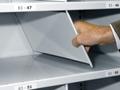 Stecktrennblech für Fachböden mit 40 mm Kantenhöhe, (H x T): 300 x 800 mm
